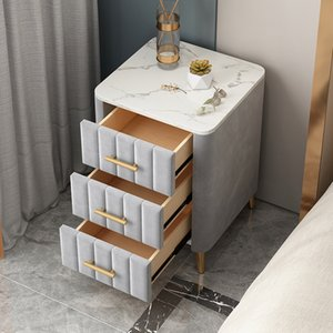 Nordic net red style small light luxury Bedroom Furniture table modern simple bedside storage cabinet