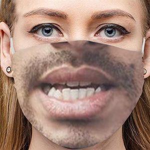 Dust Mask 3D Prevention Dustproof Fashion Respirator Cloth Face Anti Haze Mascarilla Human Facial Expression PersonalitW1