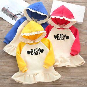 Kids Cartoon Hoodie Girls Autumn Letter Print Long Sleeve Cotton Girls Tops Kids Clothes New Cartoon Children Sweatshirt G0917