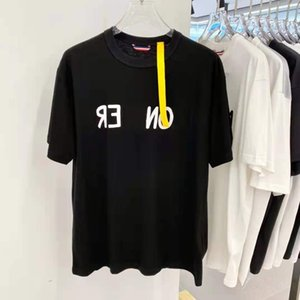 21SS early spring Short sleeve Tee Men Women High Street Fashion Short Sleeves T-Shirts Summer Breathable Tee zdlm0609.
