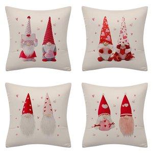 Cushion Decorative Pillow Merry Christmas Pillowcase Linen Cushion Cover Home Decoration Pillows Sofa Gift