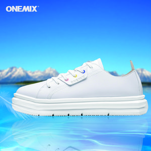 Skate shoes White Sneakers For Women Original Leather Waterproof skateboards Shoes Light Weight Breathing Anti Slip Sports 210826