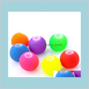 Ship 1000Pcs Acrylic Spacer Beads Ball Mixed Charms For Jewelry Making 6Mm Qeaim Gqntt