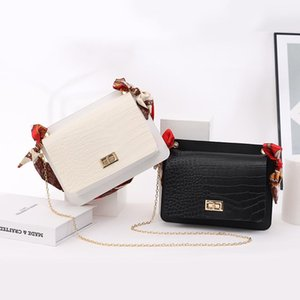 Taille Sacs Fashion Pour Femmes Bandoulière Bandoulière Bandoulière Sac à main Sacs Designer 2021 Dame de luxe avec écharpe Jelly