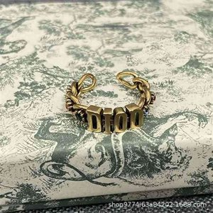 Designer jewelry new color brick letter opening ring fashion II10