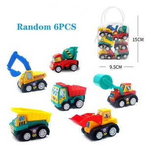 Pull Back Car Set Construction Truck Police Vehicle Fire Engine Ambulance Excavator Model Toy Mini Small Drive Slide Smoothly Samll Collect Gift for Boy Girl Baby