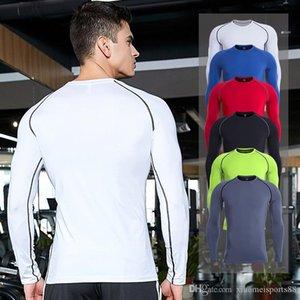 2020 Venta al por mayor Camisa deportiva Ropa para hombre MuscleGuys Bodybuilding Primavera Otoño Nuevo manga larga camiseta Hombres Branclotd Gimnasio
