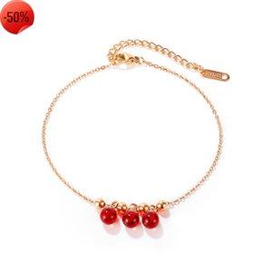 OPK Jewelry New Niche design fashion trend net red temperament simple versatile women's titanium steel foot chain
