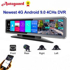 Cámaras Android 9.0 Coche DVR Espejo 4G WiFi GPS Dash Camera 4CHS AUTO Recorder Dashcam Smart DVRS