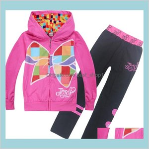 Jojo Siwa Clothes Sets 4-12T Kids Girls Zipper Hoodies + Pants Piece Sets 110-150Cm Kids Designer Clothes Girls Zss356 8P1Ib 1Bvk9