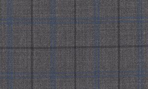 233696-9001 Pure wool high count worsted fabric [Grey Mixed Check Sharkskin W100](FSA)