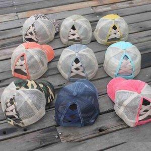 2021 Patchwork de Verão Unisex Lavado Beisebol Cap Visão Fasdhion Praia Ao Ar Livre Viagem Mulheres Homens Sun Net Hats Ball Caps G34LTPO