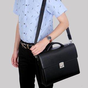 2021 Computer Genuine Bring Bag Lock Briefcase Diagonal Package Handbags Leather Luxury New Male Messenger Maleta1 Men Password Dkdop