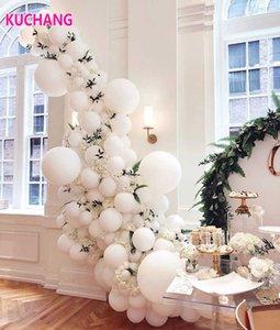Giant White Round Balloons 5 10 12 18 36 inch Wedding Mini Round White Macaron Jumbo Balloons Arch Backdrop Photography Decor Y0923