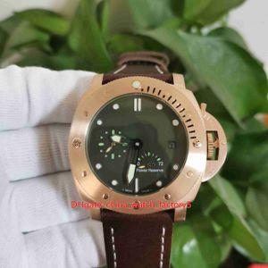 Классические высококачественные часы 47 мм погружной PAM507 PAM00507 PAM 507 00507 Зарезервирован мощность 18K Розовое золото прозрачные механические автоматические мужские мужские часы