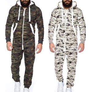 Pareja otoño invierno cálido hombres mono prenda de una pieza de una pieza pijama sin pie plomo blusa sudadera con capucha