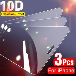 3Pcs Full Cover Protective Glass on For iPhone 11 12 Pro Max X XS Max XR Screen Protector For iPhone 7 8 6 6s Plus SE 2020 Glass
