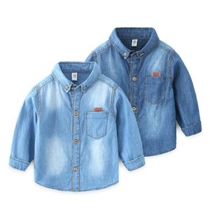 Shirts Baby Boy Cotton Shirt Kid Long Sleeve Single Breasted Tops Jeans Spring Child Clothes Denim Casual Blouse Clothing