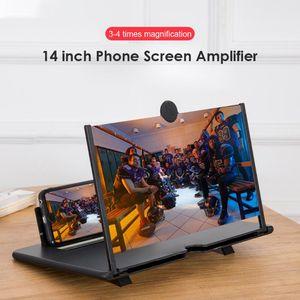Universal Mobile Phone Screen Magnifier 14 Inch 3D Enlarger Magnifying Video Portable Projector Bracket Desktop Holder Cell Mounts & Holders