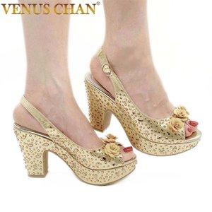 Design Snake Print PU Leather Round Toe Women Sandals Fashion Ankle T-Strap Square Heel Elegant Dress Shoe Size37-42 210910