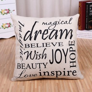 Pillow Covers Letter Throw Pillow Case Square Decorative Pillow Cushion Covers Pillowslip Love Theme Home Decor 23 Designs CCF5357