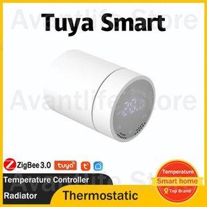 Smart Home Control With Gateway Tuya Thermostat Radiator Valve Actuator Zigbee3.0 Temperature Controller Support Alexa Google