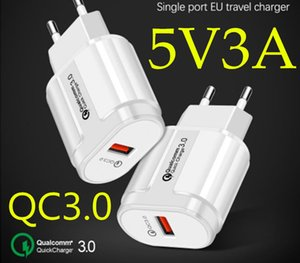 Top seller QC3.0 Adapter USB Charger Adaptive Fast Charging Single port Travel universal EU US Chargers OPP bag