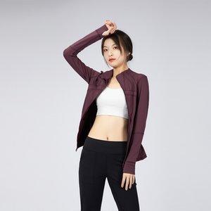 2021 Топ-ткань Женская Тренировка Yoga Куртка Полный Zip Беговые Треки