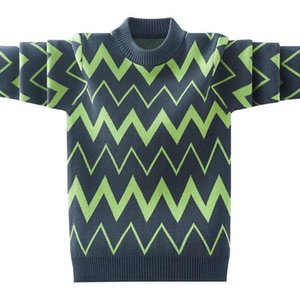 Pullover Teenager Boys Sweater Children's Clothing 2021 Autumn Winter Wave Knitted Tops Casual Daily Knit Outerwears 4-15