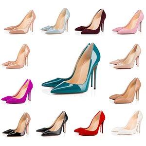 Top Quality Bottom Bottom Ladies Tacchi alti Nude Color Sandali appuntiti Modo Banchetto Stilista Stylist Stis Scarpe Dress Shoes Shoes Shoes Pelle borking S I5PL #