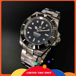 Steeldive Automatic Watch Men Diver Relojes 200M NH35 Reloj mecánico para hombres SD1954 Sapphire 316L Steel Bucking Watch Luminoso