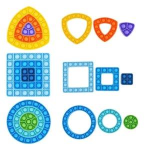 Push Bubble Fidget Toys Sensory Ring Bracelets Puzzle Press Finger Bubbles Stress Bracelet Wristband Decompression Toy