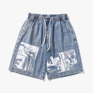 Herren gedruckte Jeans Shorts Männer Mode Jeans