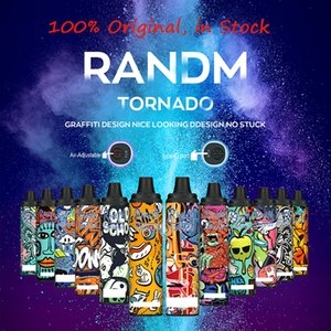 Original Fumot RandM Tornado E Cigarette r&m Disposable Vape Pen Device With Airflow Control Rechargeable 12ml Pod 6000 Puffs Vapes Kit