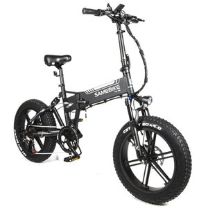 Off Road Electric Bike 7Speed SAMEBIKE XWLX09 Electric-Bicycles 500W 48V 10Ah Fat Tire Electrics Folding Bicycle Mountain eBike