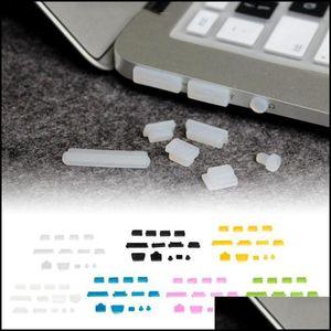 Anti-Dust Phones & Aessoriesanti-Dust Plugs Soft Sile Data Port Usb Protector Set Laptop Jacks Dustproof Er Stopper Notebook Aessories Cell