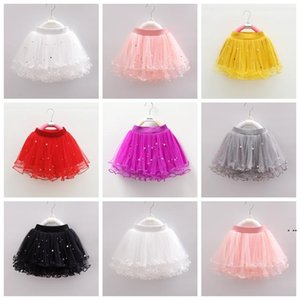 Abbigliamento per bambini Tutu Nail Bead Gonne Tessuto Tessile Baby Girls Dance Abiti Balletto Tulle Pettiskirt Bruffy Gonna Partito HWE5550