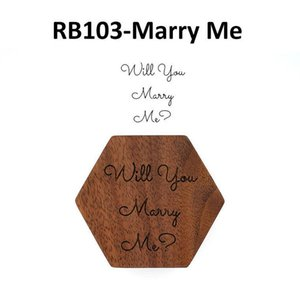Blank Wood ring box Walnut Wooden Will You Mary Me Wedding Jewelry Rings jewellery boxes