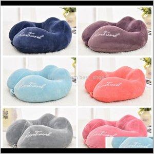 U Shape Memory Foam Pp Cotton Travel Neck Support Head Rest Airplane Car Office Cushion 6 Colors Ldh205 7Cy3T Ur4Tm