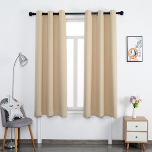 Curtain & Drapes Blackout Blinds Curtains For Living Room Modern Grommet Window Treatment Solid Colour Thermal Insulated Home Decoration