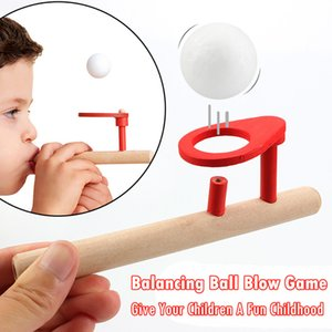 Children's wooden toy blowing music suspension balls fun tube balance toys educational kids baby Magic flying ball birthday present gift