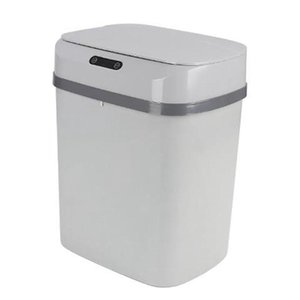 Waste Bins 12L Smart Home Intelligent Automatic Sensor Dustbin Kitchen Bin Eco-Friendly Rubbish Trashcan,Gray
