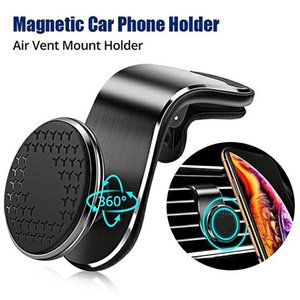 Universal 360 Degree Rotating Magnetic stand 7glyph Navigation Phone Holder For Iphone Air Outlet Metal Magnet Dashboard Sticking Mount Bracket