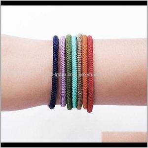 Jewelrykimter Charm Woven Rope String Bracelets Boho Pray Yoga Bangle Handmade Girls Friendship Bracelet Jewelry For Men Women Q507Fz Drop De
