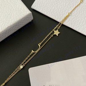 Designer Bracelets Women Star Letter Double Layer Bracelet Has Logo Luxury Jewelry Wholesale WITH BOX L-D01