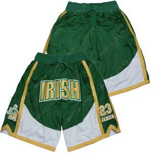 Erkekler 23 Basketbol Şort İrlanda Jame Pantolon Dikişli Mücadele