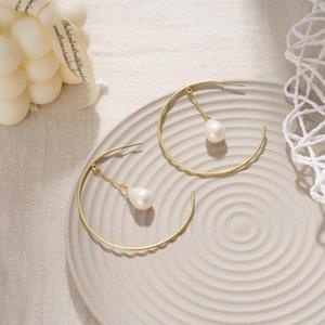 Orecchini a cerchio perla per le donne Moda penzolare ipoallergenico strato Drop regali 5-49 coppie huggie