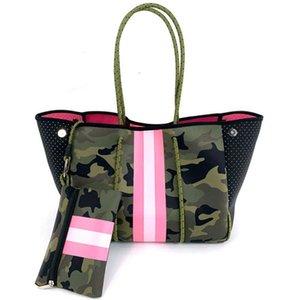 Bolso de hombro lujo neopreno ligero para mujer, bolsa viaje, playa y vacaciones, a la moda, Espaa