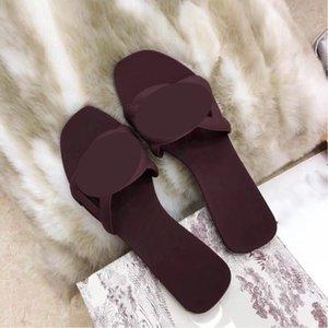 Diseñador de lujo clásico zapatillas de verano Solas de sol Suelas de sol Suelas de sol Suelas de moda casual Playa de punta abierta 35-41