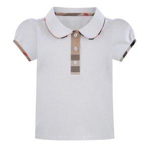Great Quality Summer Baby Girls T-shirts Cotton Girl Turn-Down Collar T-shirt Kids Short Sleeve Tops Tees Children Casual T Shirt